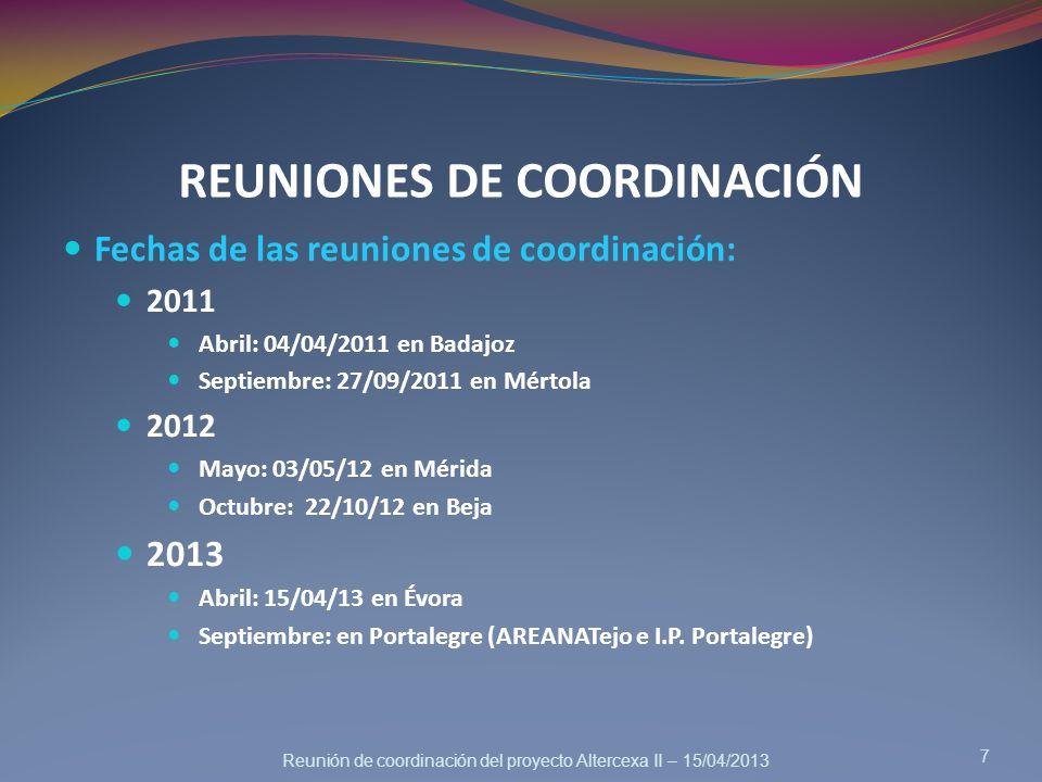 REUNIONES DE COORDINACIÓN