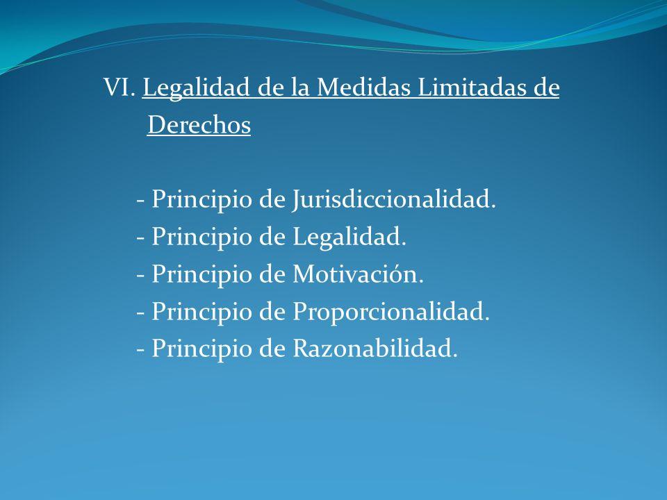 VI. Legalidad de la Medidas Limitadas de