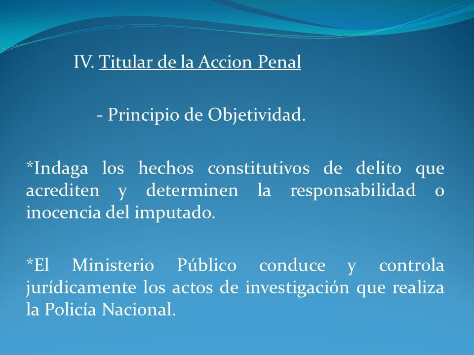 IV. Titular de la Accion Penal