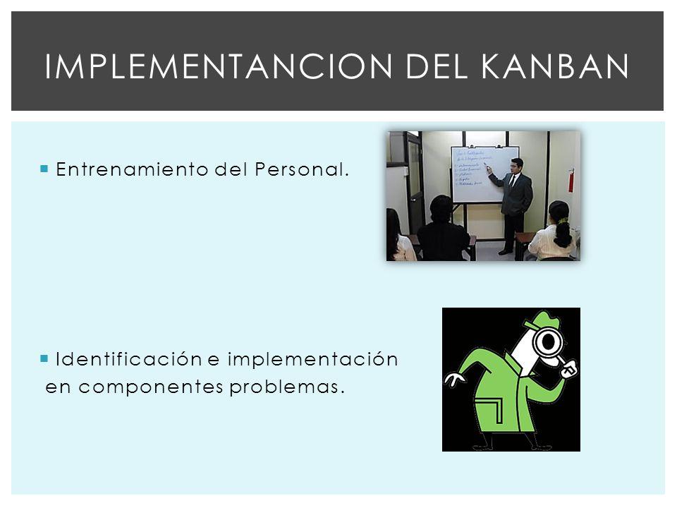 Implementancion del kanban