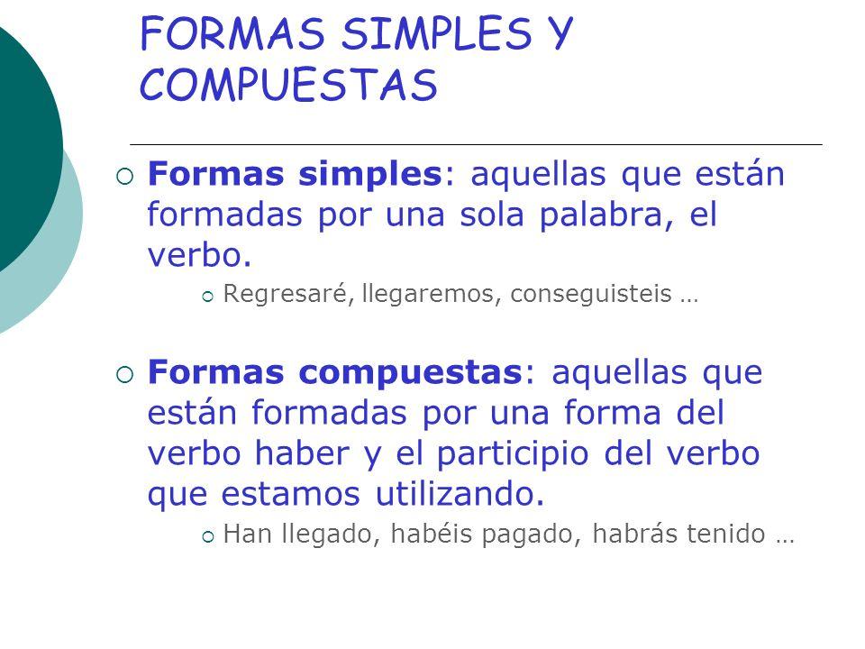 FORMAS SIMPLES Y COMPUESTAS