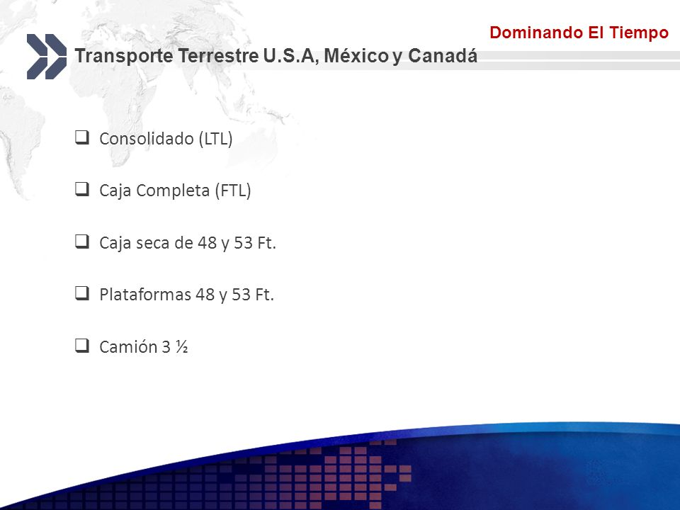 Transporte Terrestre U.S.A, México y Canadá