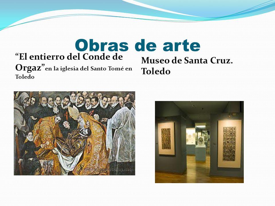 Obras de arte El entierro del Conde de Orgaz en la iglesia del Santo Tomé en Toledo.