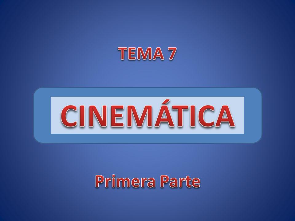 TEMA 7 CINEMÁTICA Primera Parte