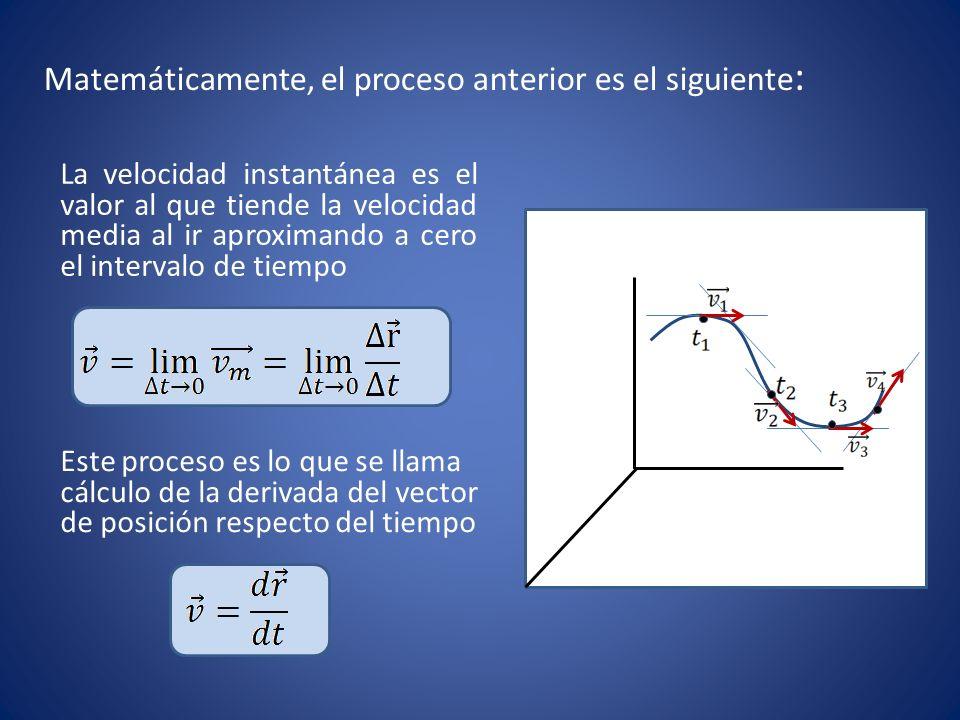 Matemáticamente, el proceso anterior es el siguiente: