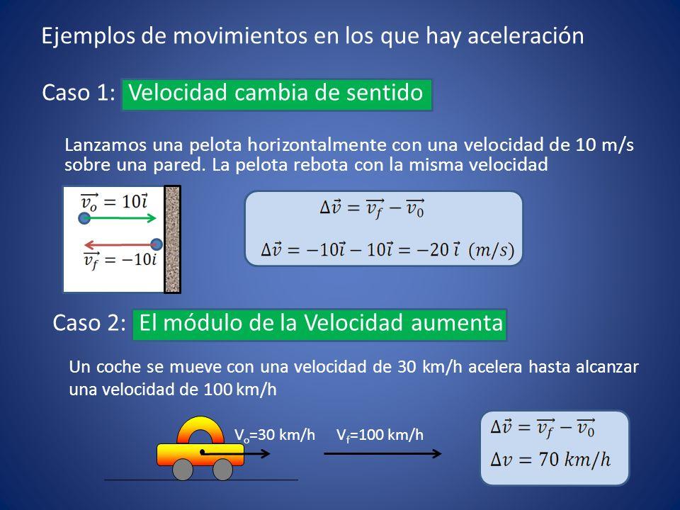 Ejemplos de movimientos en los que hay aceleración
