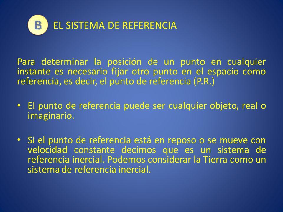 B EL SISTEMA DE REFERENCIA