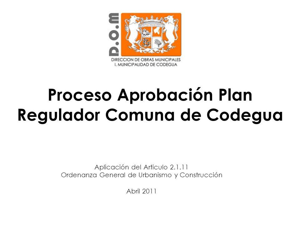 Proceso Aprobación Plan Regulador Comuna de Codegua