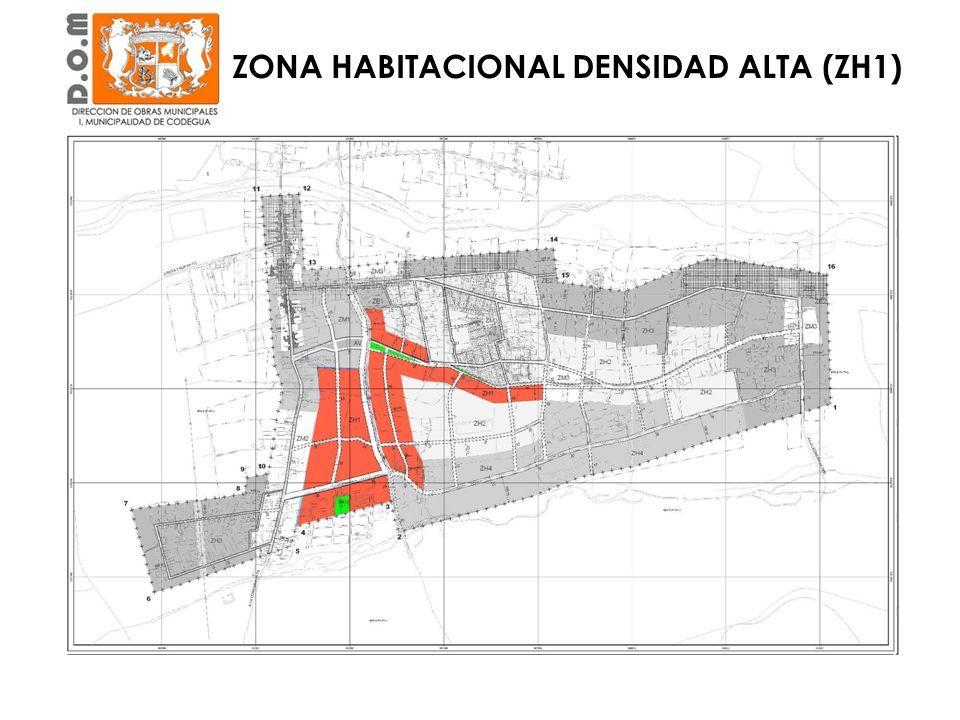ZONA HABITACIONAL DENSIDAD ALTA (ZH1)