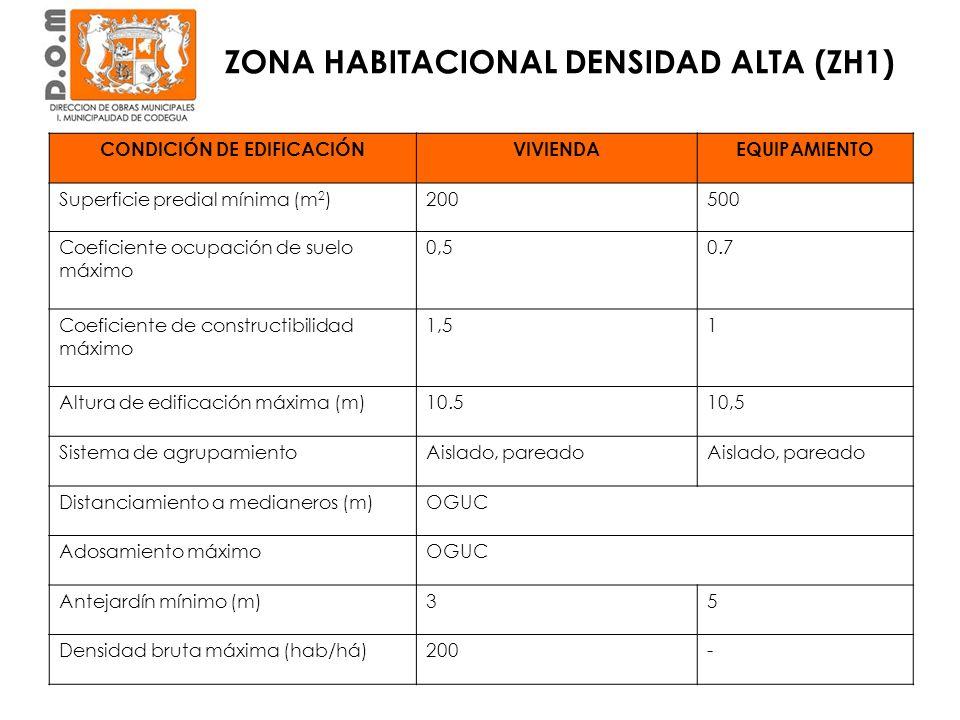 CONDICIÓN DE EDIFICACIÓN