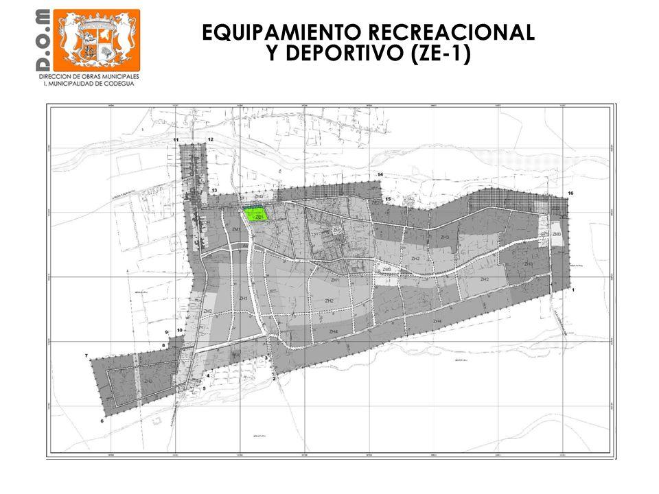 EQUIPAMIENTO RECREACIONAL Y DEPORTIVO (ZE-1)