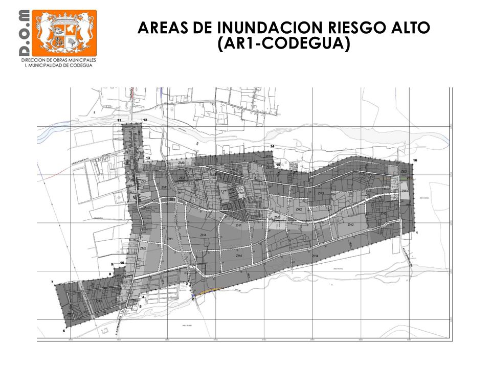 AREAS DE INUNDACION RIESGO ALTO (AR1-CODEGUA)