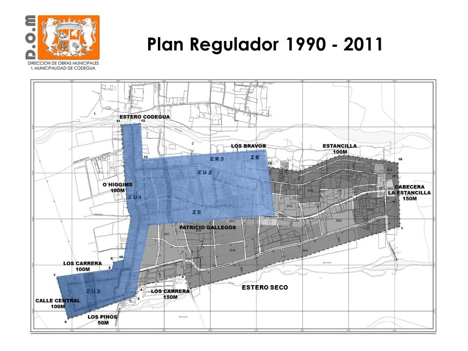 Plan Regulador 1990 - 2011 ESTERO SECO