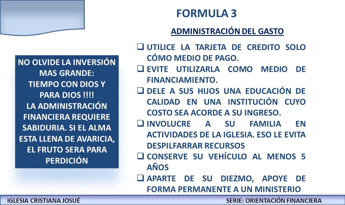 NO OLVIDE LA INVERSIÓN MAS GRANDE: TIEMPO CON DIOS Y PARA DIOS !!!!