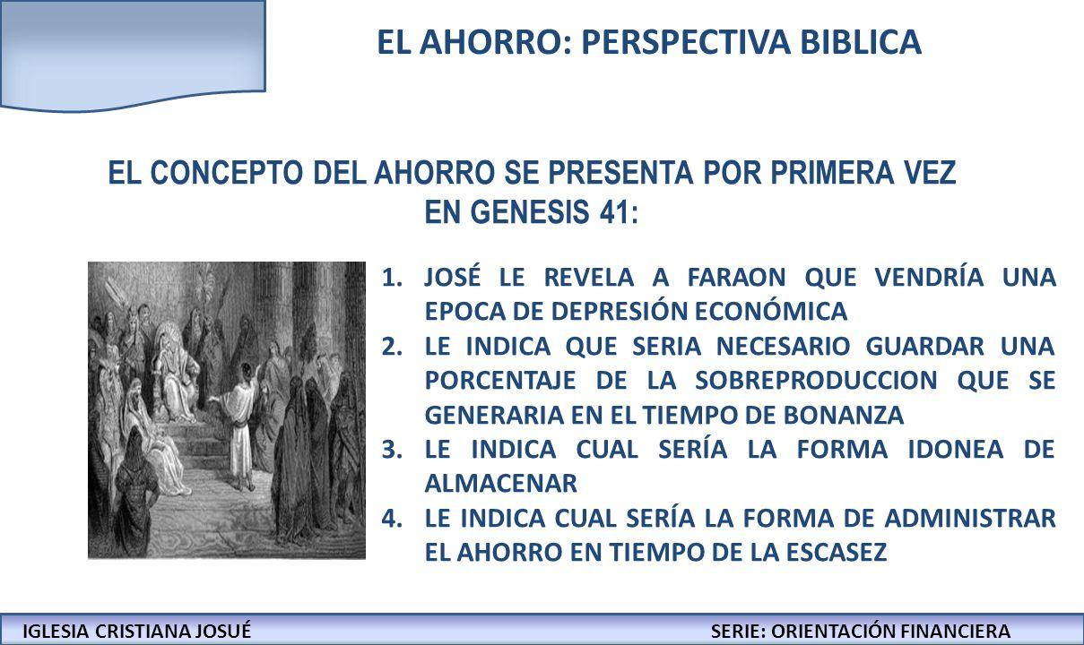 EL AHORRO: PERSPECTIVA BIBLICA