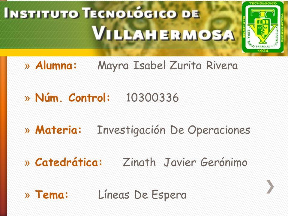 Alumna: Mayra Isabel Zurita Rivera