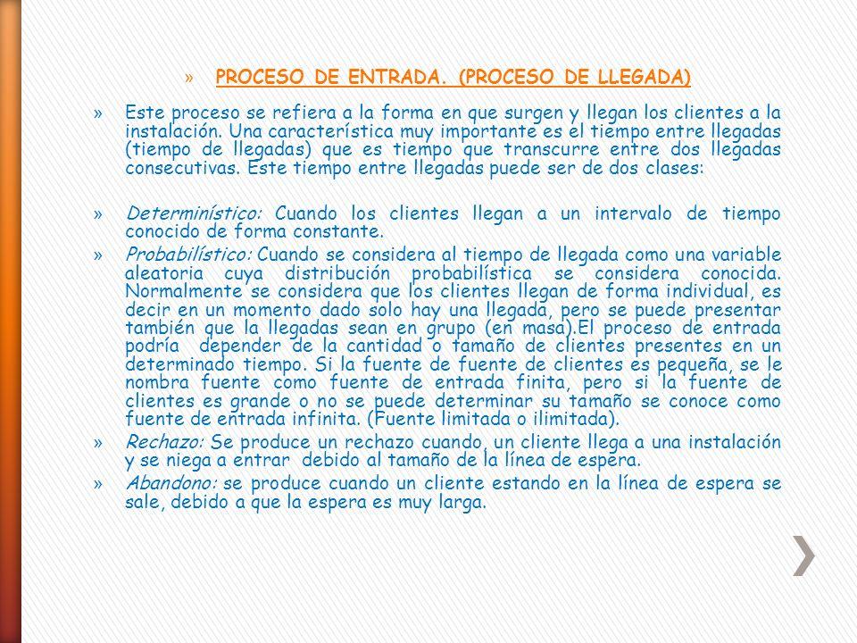 PROCESO DE ENTRADA. (PROCESO DE LLEGADA)