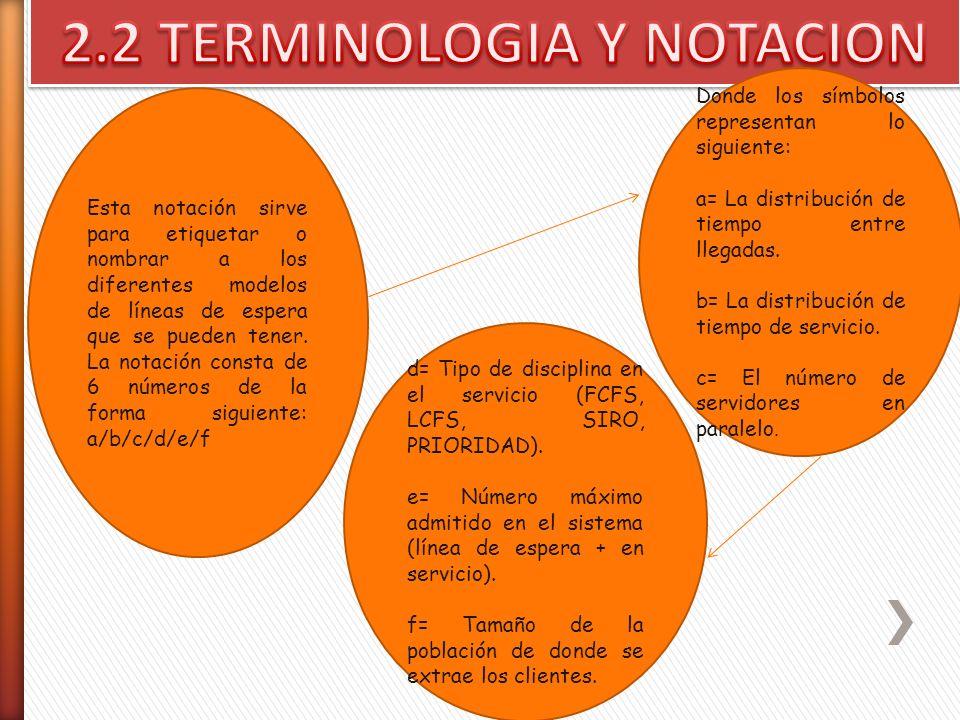 2.2 TERMINOLOGIA Y NOTACION