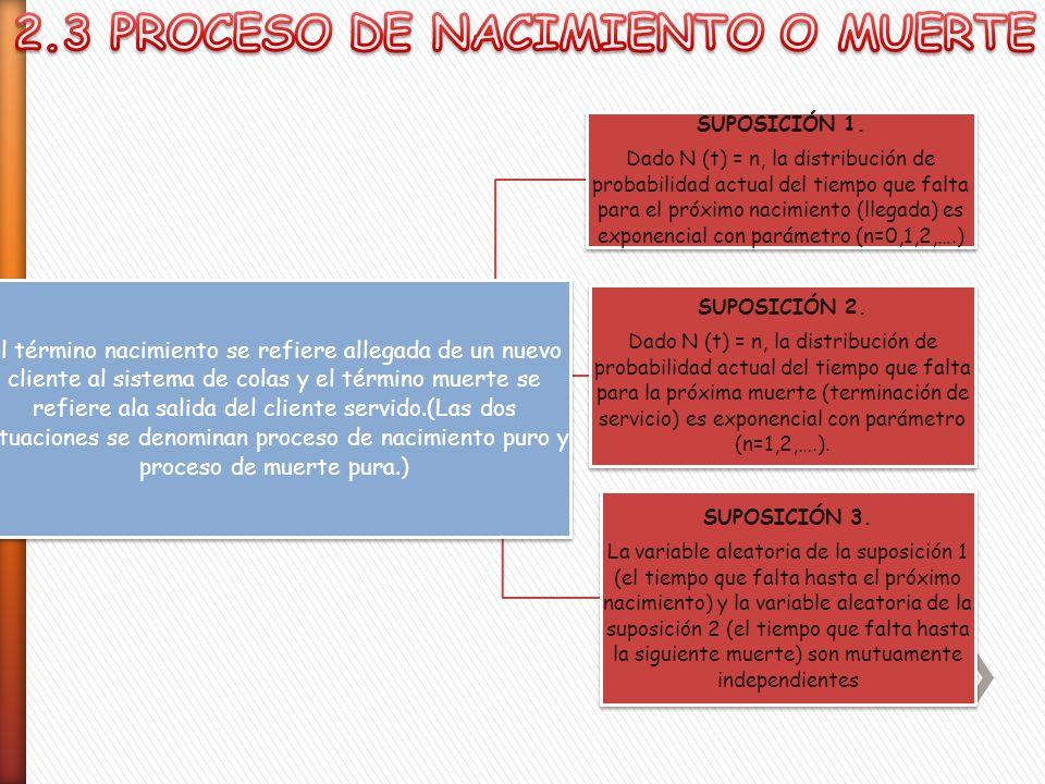 2.3 PROCESO DE NACIMIENTO O MUERTE