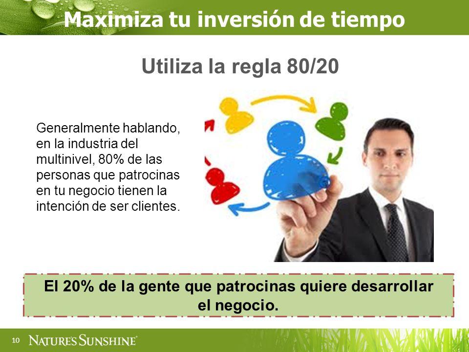 El 20% de la gente que patrocinas quiere desarrollar