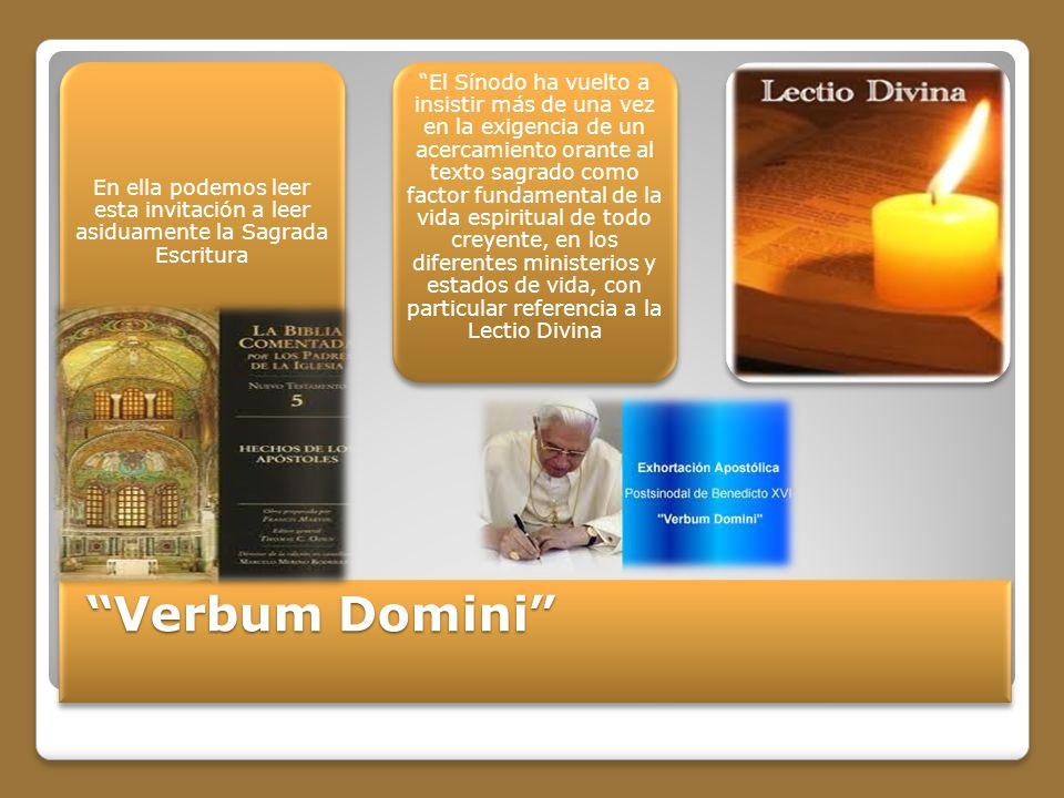 En ella podemos leer esta invitación a leer asiduamente la Sagrada Escritura
