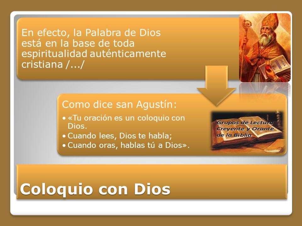 En efecto, la Palabra de Dios está en la base de toda espiritualidad auténticamente cristiana /.../