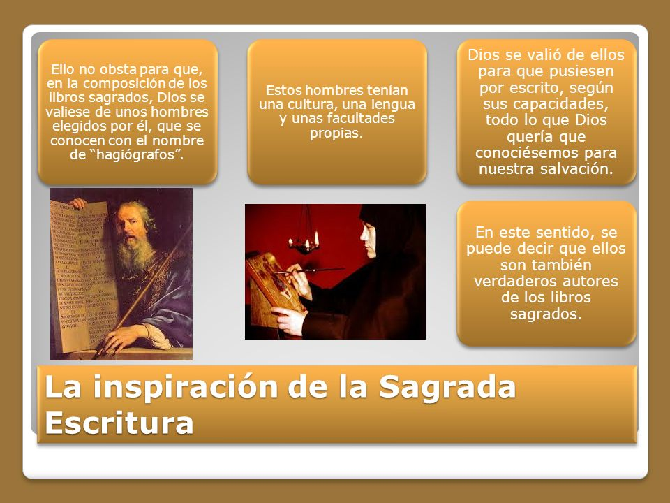 La inspiración de la Sagrada Escritura