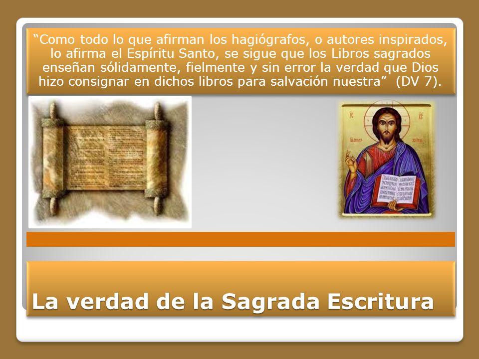 La verdad de la Sagrada Escritura