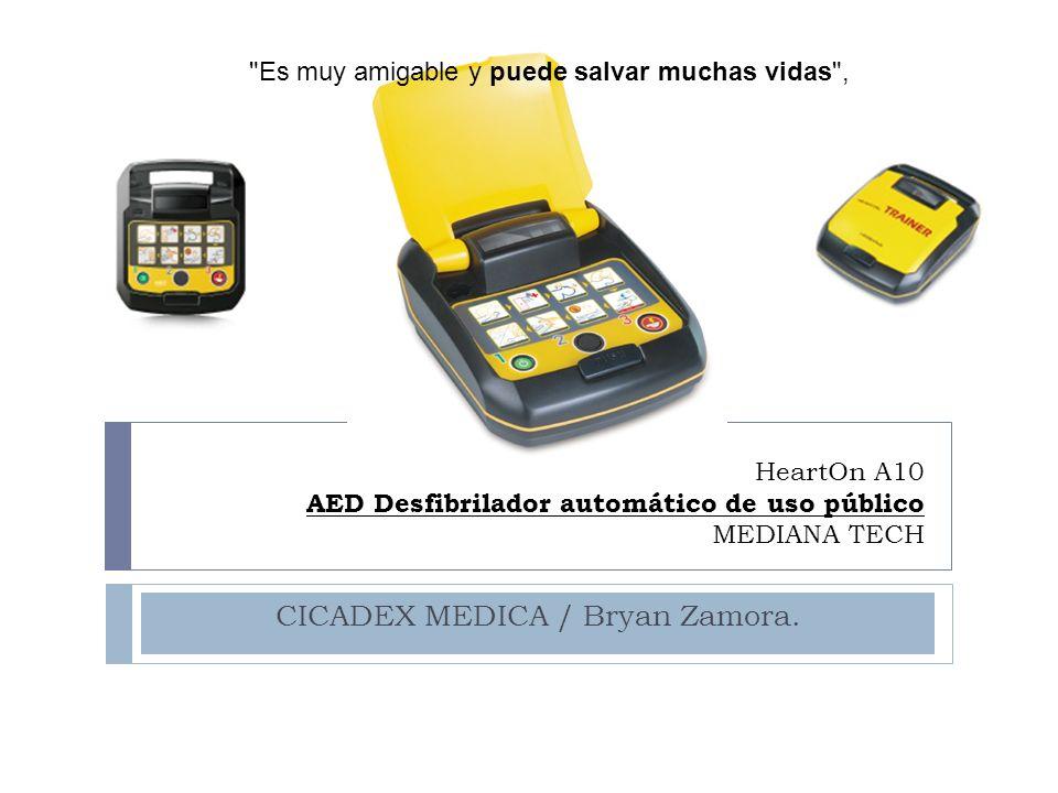 HeartOn A10 AED Desfibrilador automático de uso público MEDIANA TECH