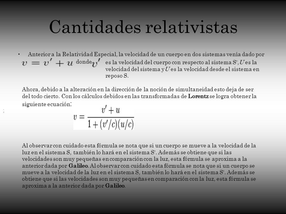 Cantidades relativistas