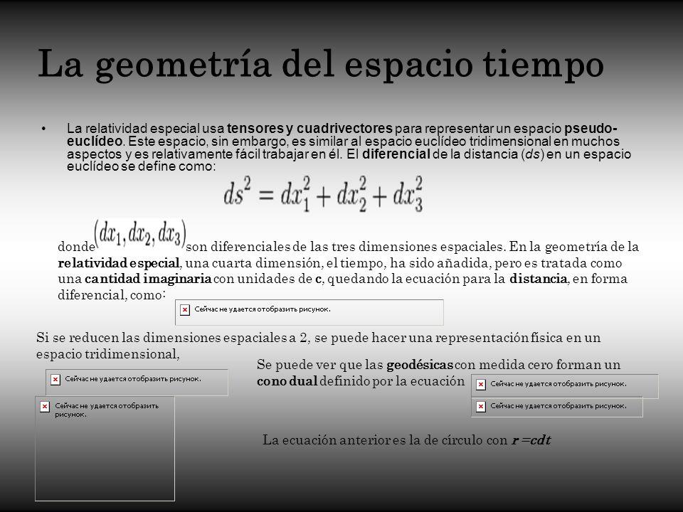La geometría del espacio tiempo