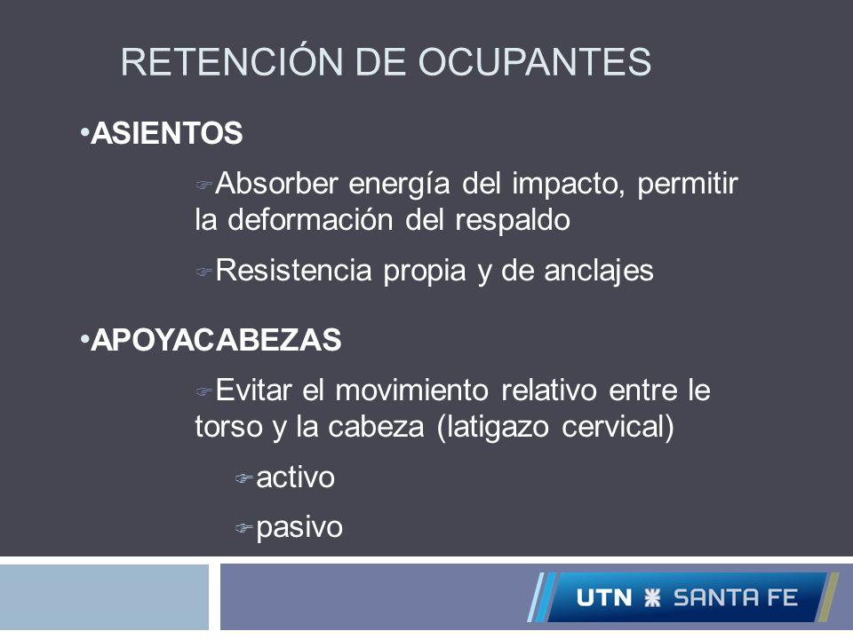 RETENCIÓN DE OCUPANTES