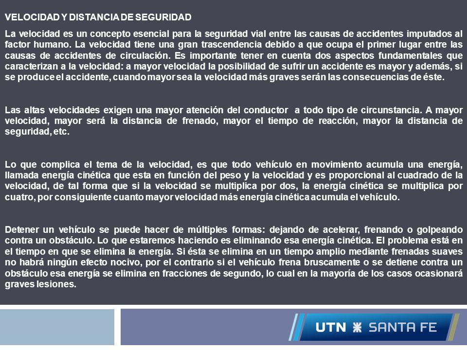 VELOCIDAD Y DISTANCIA DE SEGURIDAD