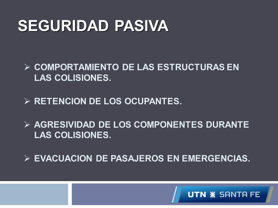 SEGURIDAD PASIVA COMPORTAMIENTO DE LAS ESTRUCTURAS EN LAS COLISIONES.