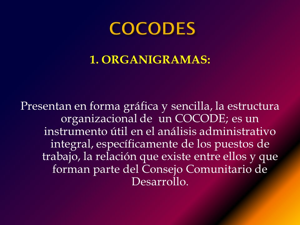 COCODES 1. ORGANIGRAMAS: