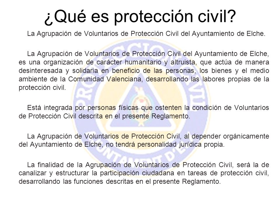 ¿Qué es protección civil
