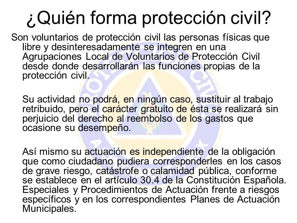 ¿Quién forma protección civil