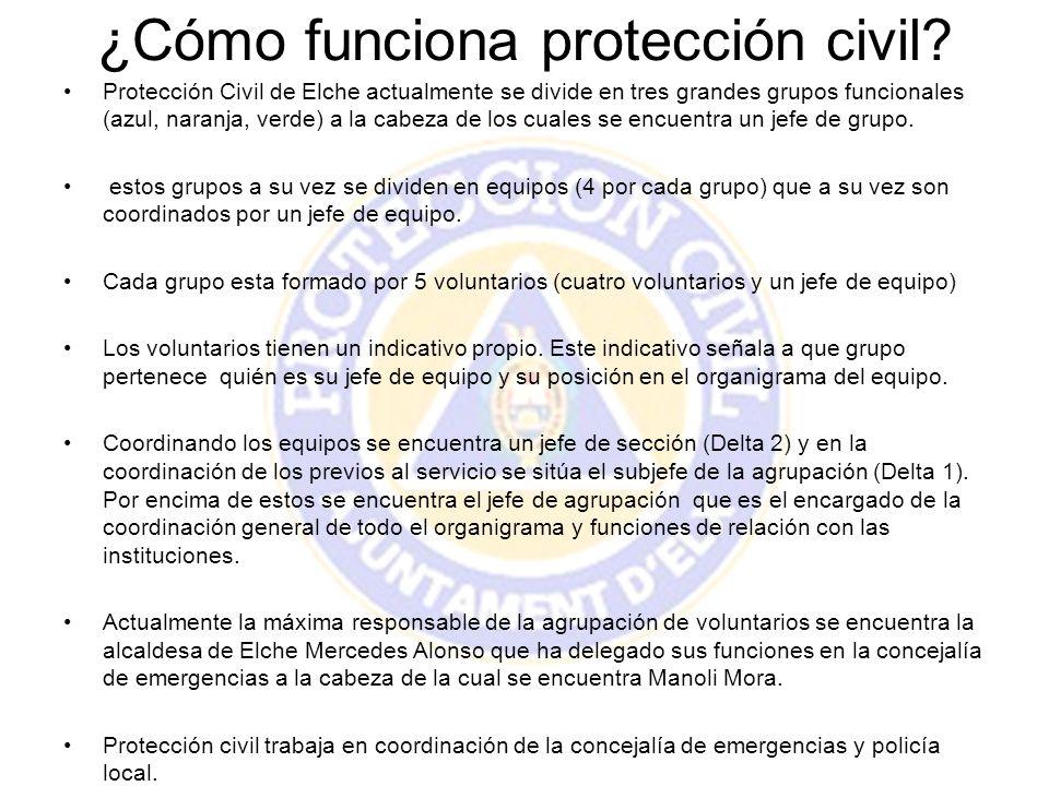¿Cómo funciona protección civil