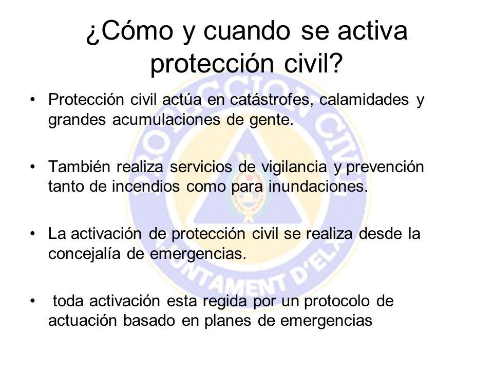 ¿Cómo y cuando se activa protección civil