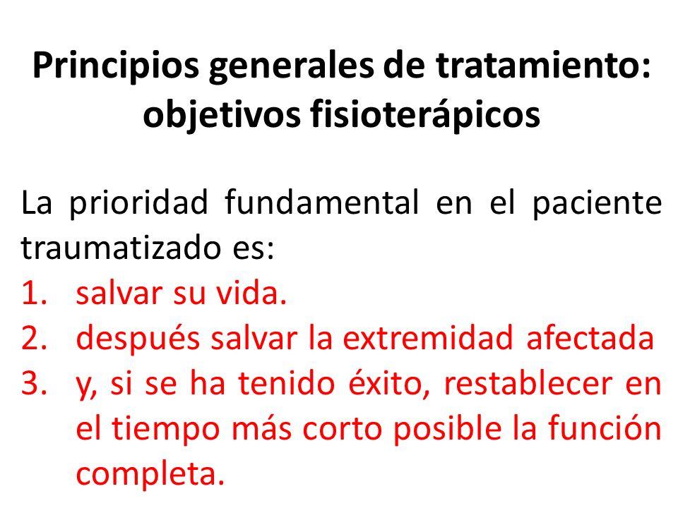 Principios generales de tratamiento: objetivos fisioterápicos