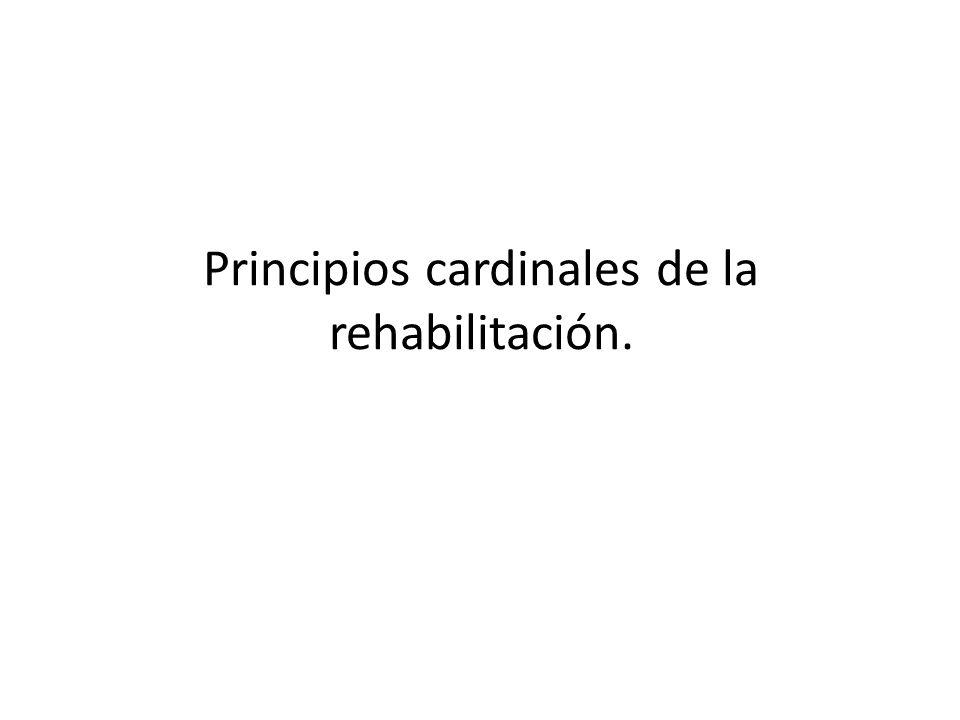 Principios cardinales de la rehabilitación.
