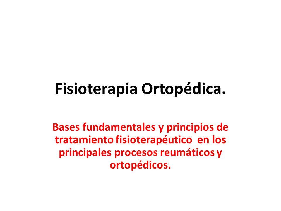 Fisioterapia Ortopédica.