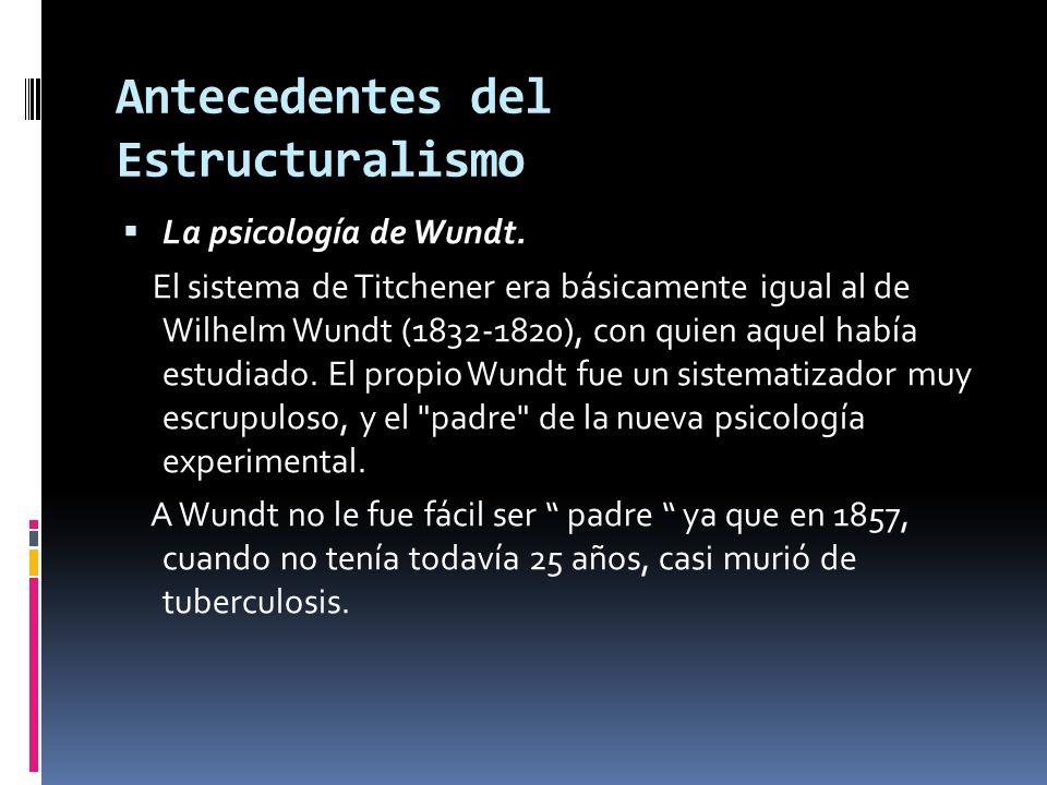 Antecedentes del Estructuralismo