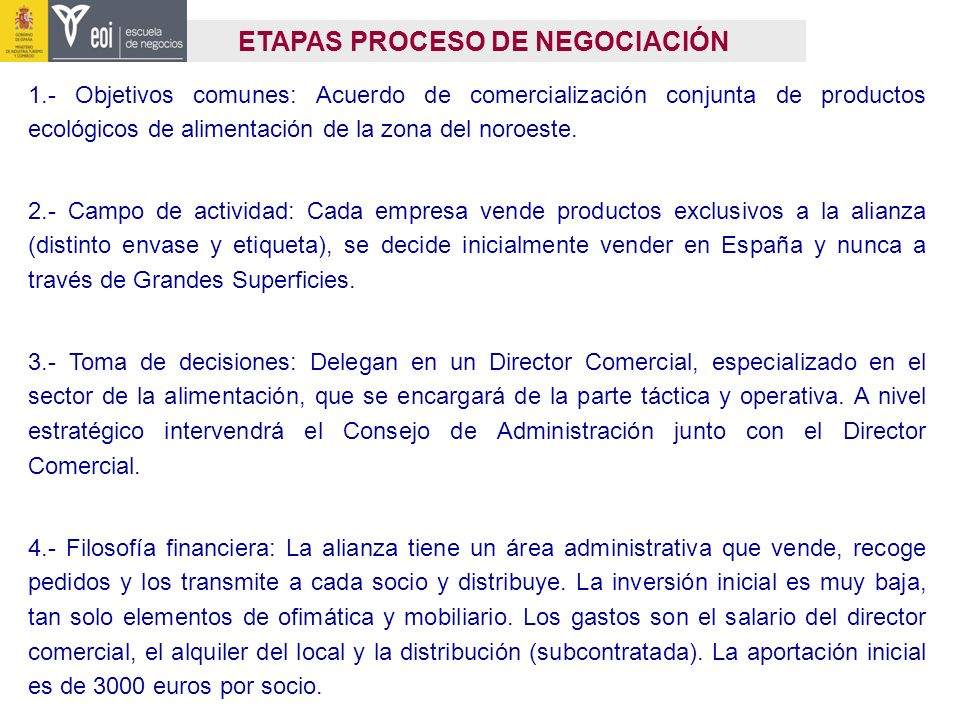 ETAPAS PROCESO DE NEGOCIACIÓN