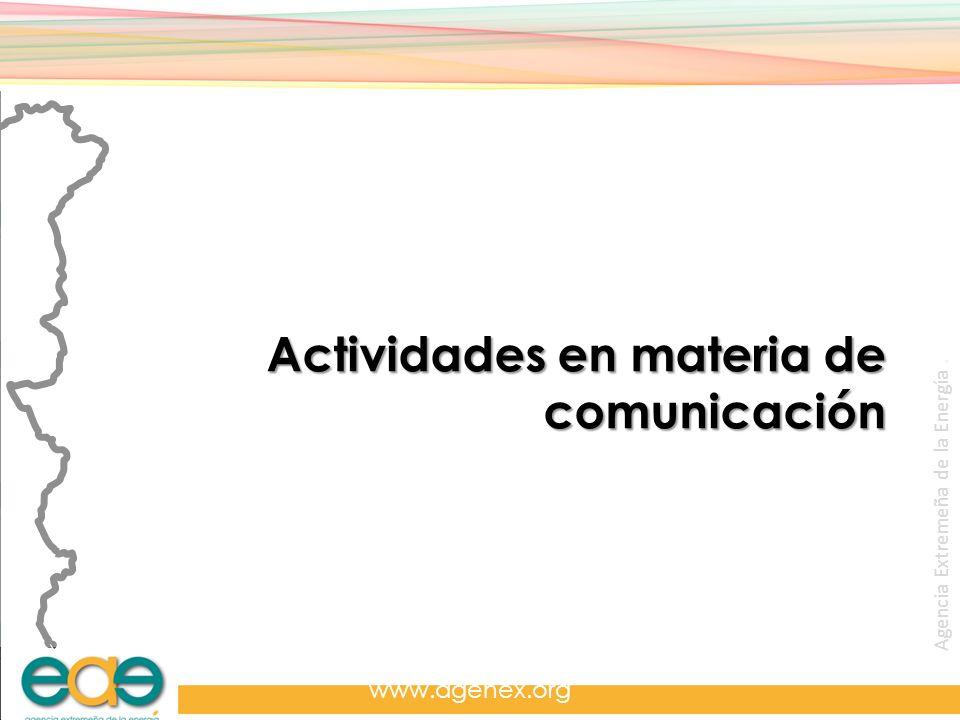 Actividades en materia de comunicación