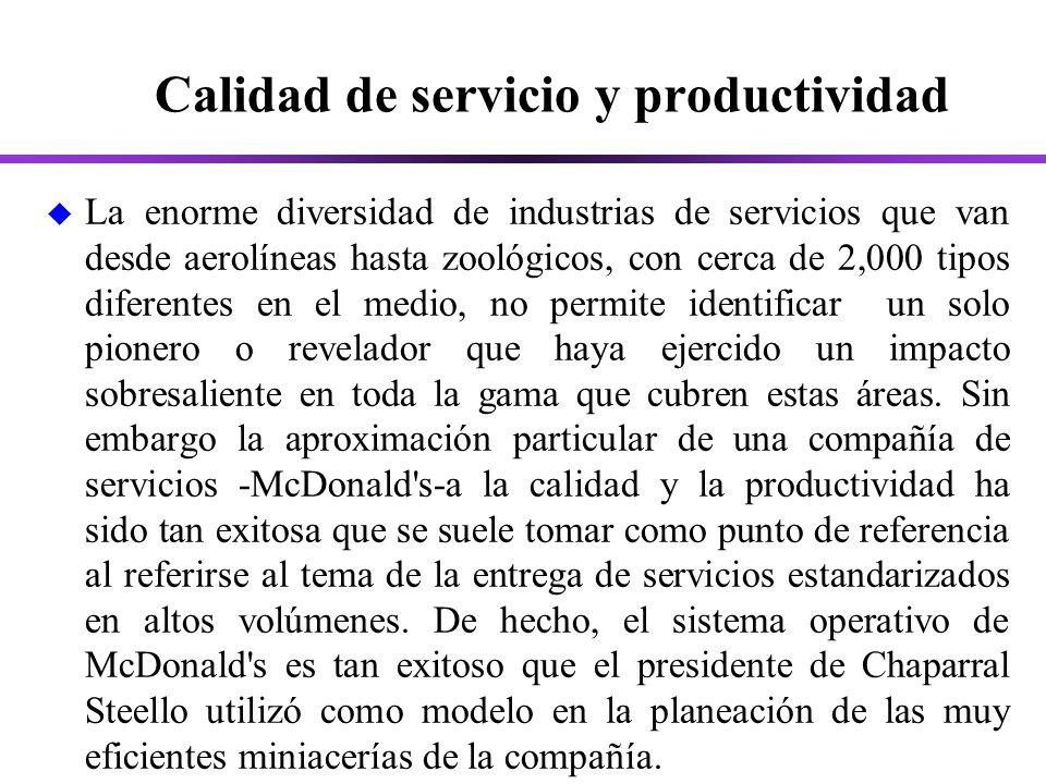 Calidad de servicio y productividad