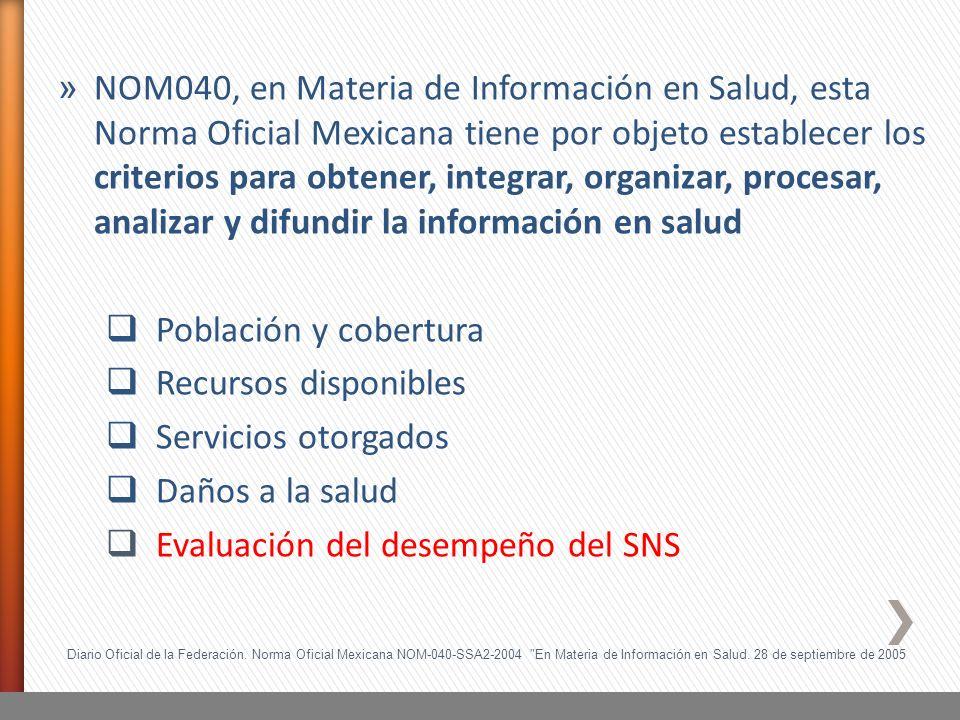 Evaluación del desempeño del SNS