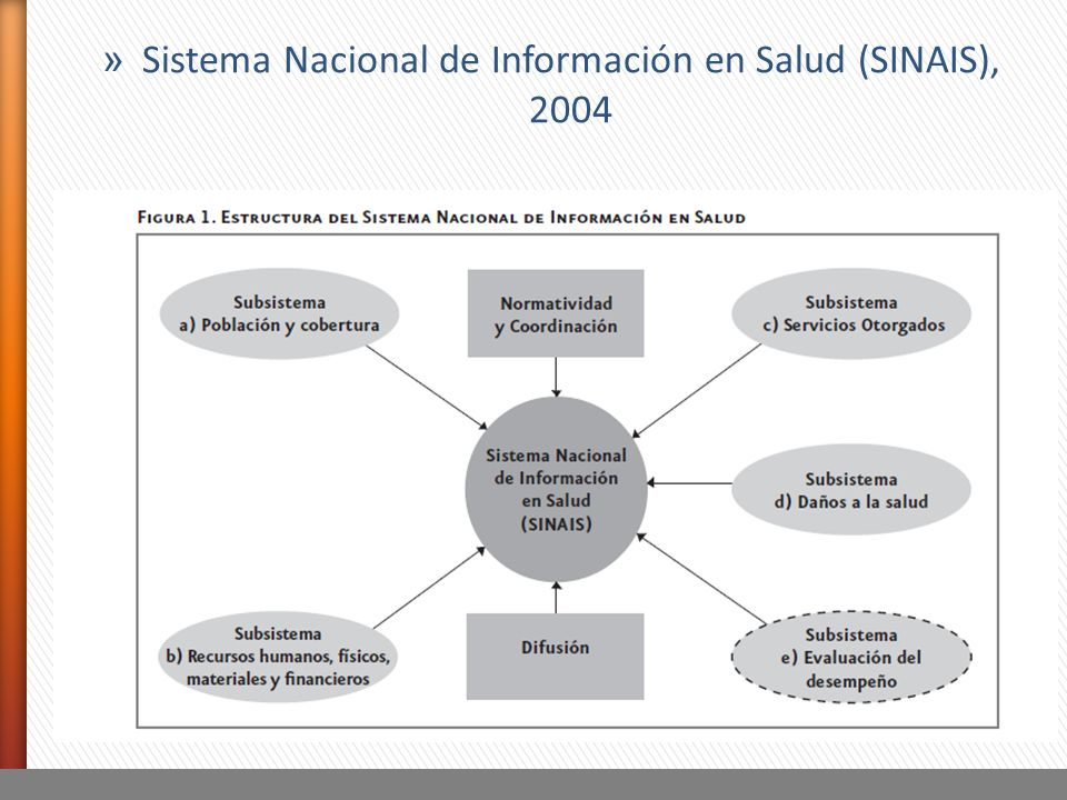Sistema Nacional de Información en Salud (SINAIS), 2004
