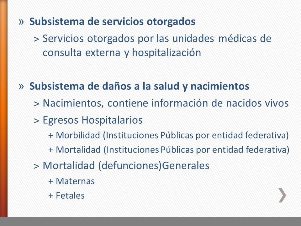 Subsistema de servicios otorgados