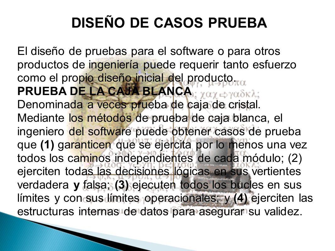 DISEÑO DE CASOS PRUEBA